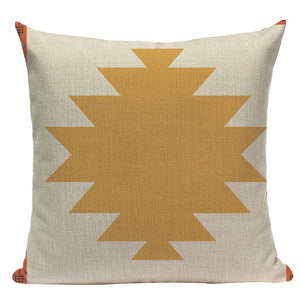 Classical Bedside Geometric Pattern Pillow Cover