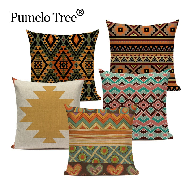 Boho Cushion Cover For Square Sofa And Chair Custom Printing Pillow Cover Cushion