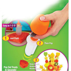 Artymac- Push & Pop Fruit Shaper Cutter