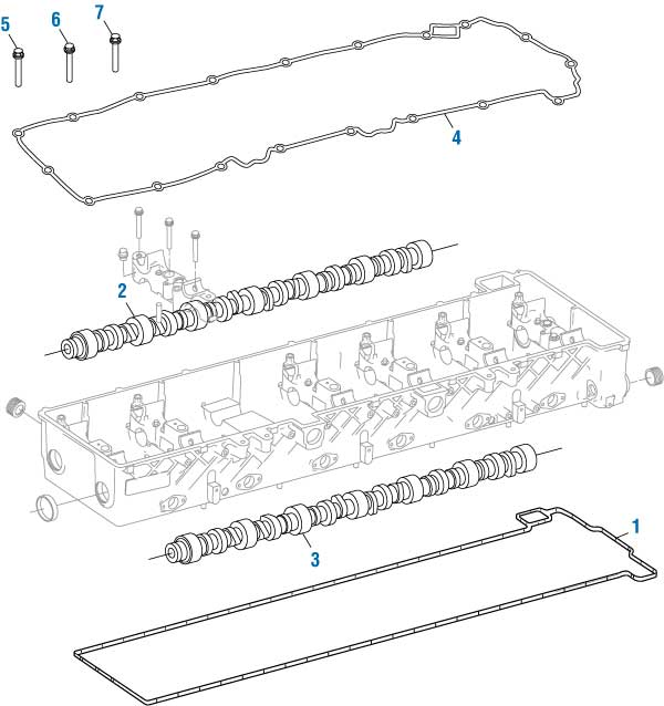 Gasket Cam Housing DDCA4720160680  for DD15