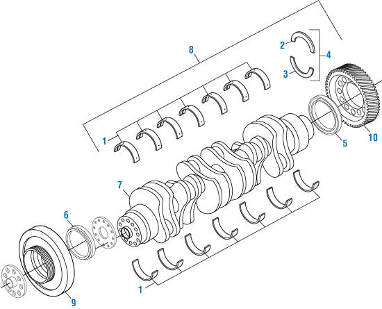 Damper Crankshaft for DD15 A4720350300