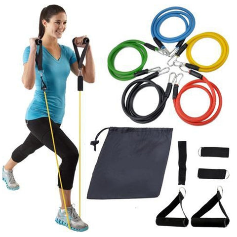 Image of 11PCS AND 13PCS Latex Resistance Exercise Bands Gym Kit