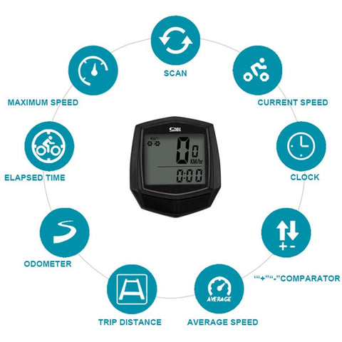 Image of SUNDING Bike Wired Stopwatch Bicycle Multifunction Computer Speedometer Odometer Sensor Outdoor Sport Accessories SD-581