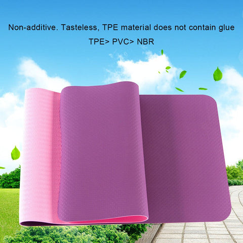 6mm Thick TPE Non-slip Eco Friendly Yoga Mat