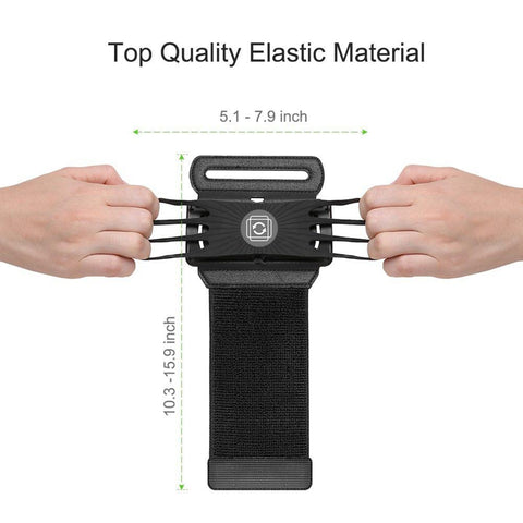 Image of Universal mobile phone holder wristband 180 rotation running sports wristband mobile phone storage sports fitness accessories
