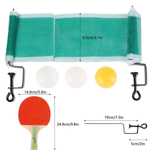 Image of Table Tennis Net Portable Anywhere Ping Pong Post Net Rack For Any Table Entertainment Workout Gym Portable Sport Supplies