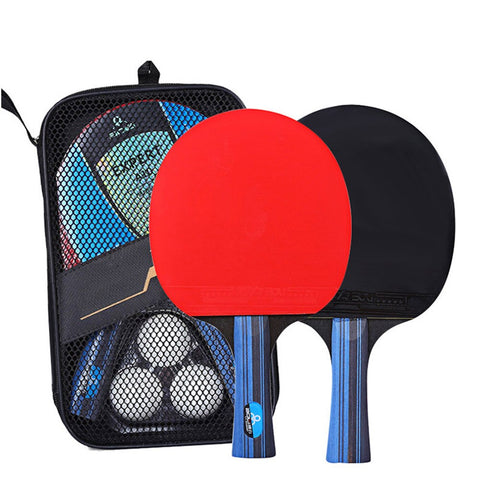 Image of 2Pcs Ping Pong Racket Long Handle Table Tennis Set With 3 Balls