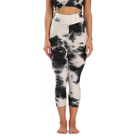 Image of Calf Length Anti-Cellulite Leggings High Waist Workout Activewear