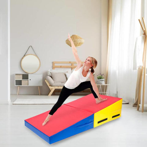 Folding Trapezoid Shape Thick Yoga Mat