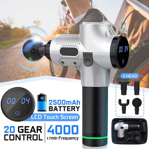 4000r/min 20 Gears 4 Head Therapy Massage Guns Muscle Massager