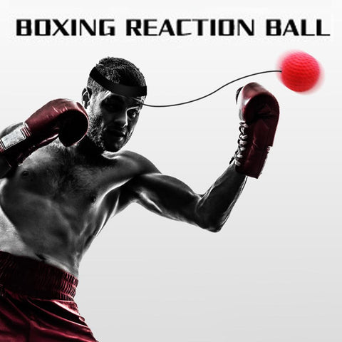 Boxing Reflex Speed Punch Ball Head band Exercise Equipment