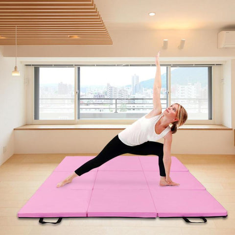 Folding Gymnastics Mat Portable Tri-fold Yoga Floor Pad
