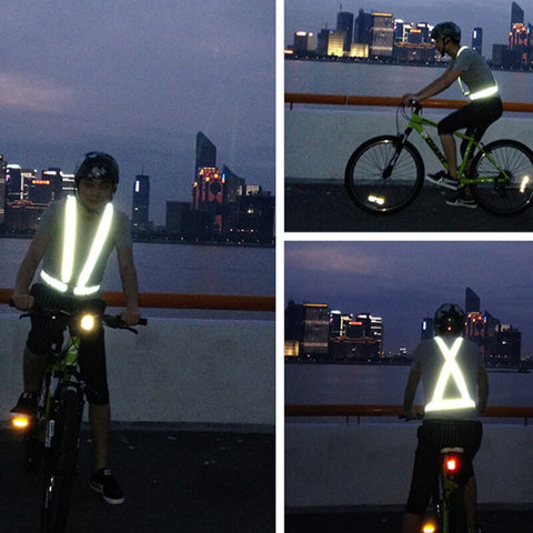 Image of Light Reflective Elastic High Visibility Unisex Outdoor Safety Vest
