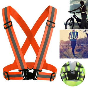 Light Reflective Elastic High Visibility Unisex Outdoor Safety Vest