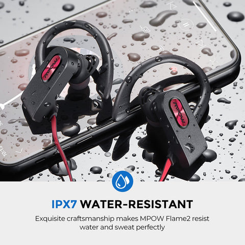 Image of Mpow Flame 2 ipx7 Waterproof Bluetooth 5.0 Sports Earphone