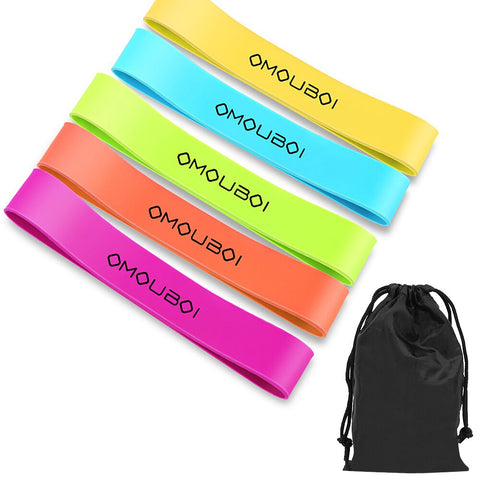 Pack of 5 Resistance Loop Bands with Carry Bag