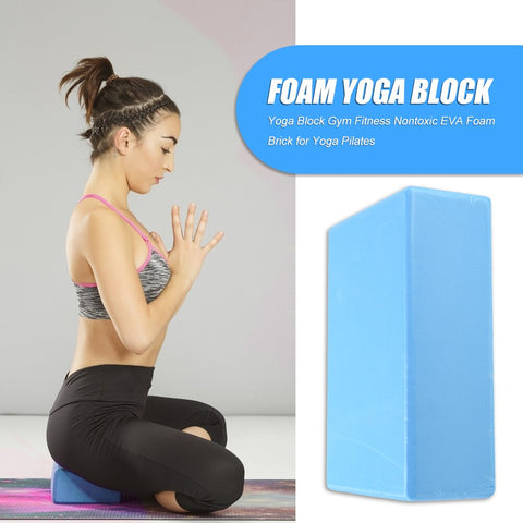 Yoga Block EVA Foam Brick Women Gym Fitness Yoga Gym Energy Durable Decor for Yoga Pilates Meditation