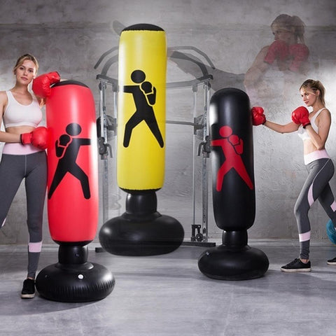 Boxing Punching Bag Inflatable Free-Stand Tumbler with Air Pump
