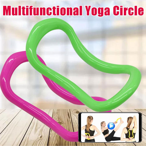 Yoga Fitness Magic Ring Women Workout Gym Home Professional Training Muscle Pilates Circle Accessories Exercise Sport Resistance