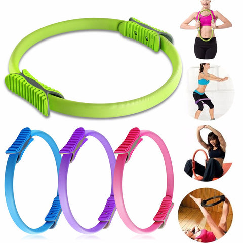 Upgraded Yoga Circle Magic Ring Training Ring Yoga Pilates Ring Body Building Pilates Sport Fitness Resistance Circle 4 Colors