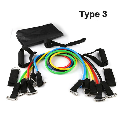 Image of Resistance Bands Latex  11 IN 1 Sports Fitness Yoga Pilates Trainning Tube Pull Rope