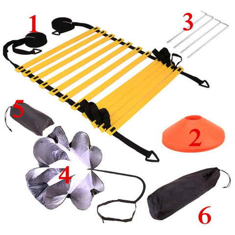 Image of Football Training Set Resistance Umbrella Agile Ladder Sign Disc