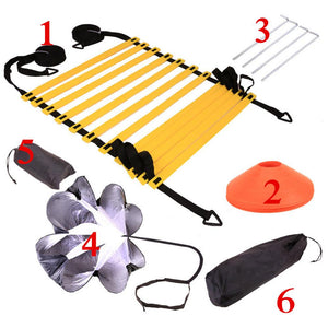 Football Training Set Resistance Umbrella Agile Ladder Sign Disc