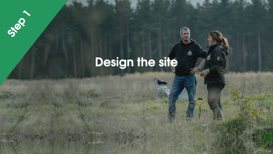 We design the site