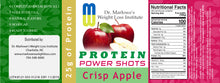 Load image into Gallery viewer, 12 Pack Crisp Apple Protein Shots