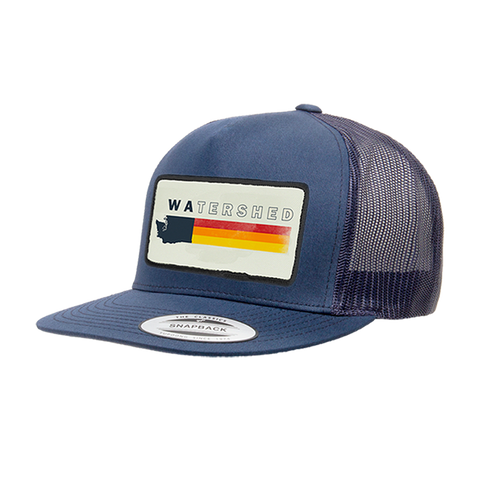 Navy Watershed Trucker Hat