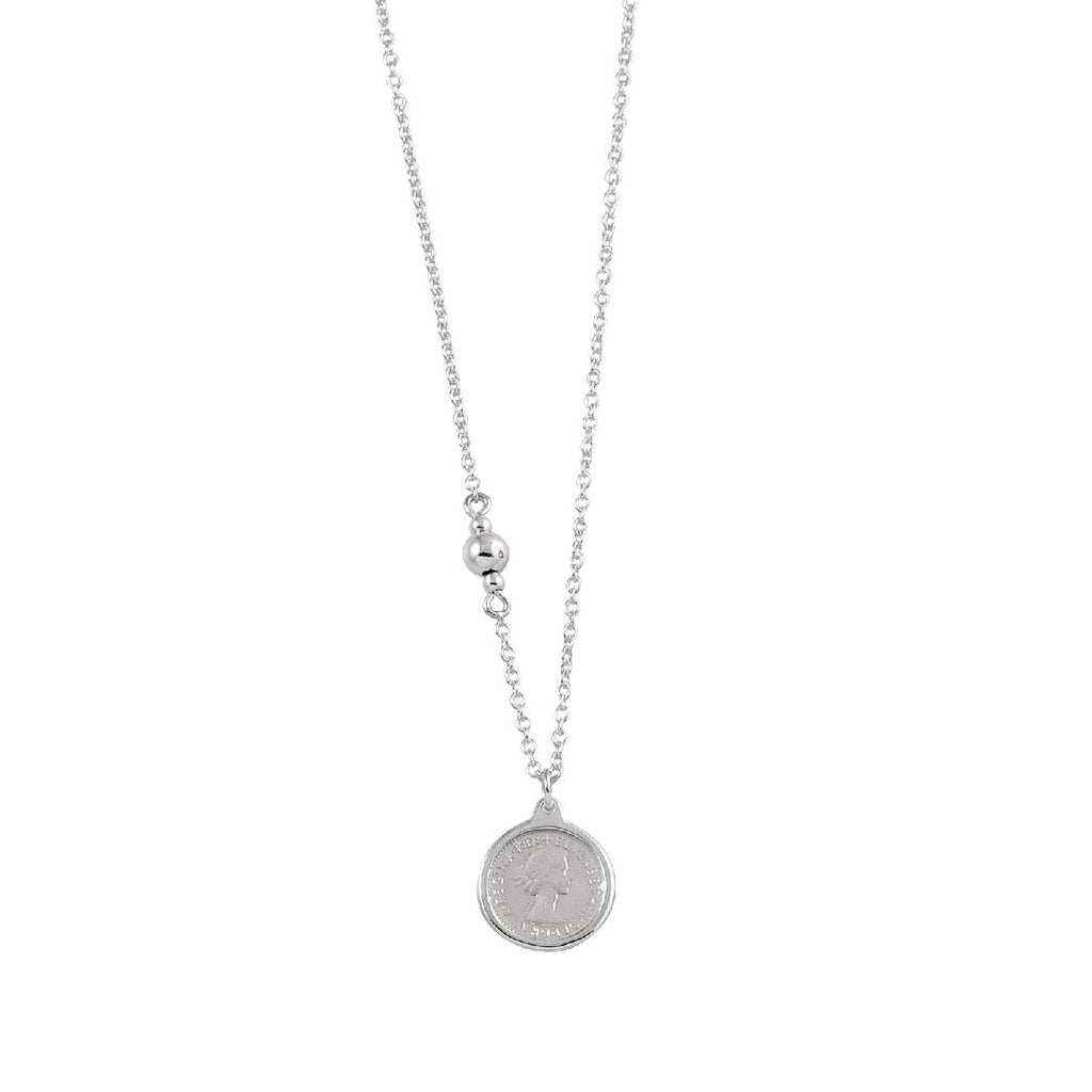 VON TRESKOW THREEPENCE SILVER NECKLACE