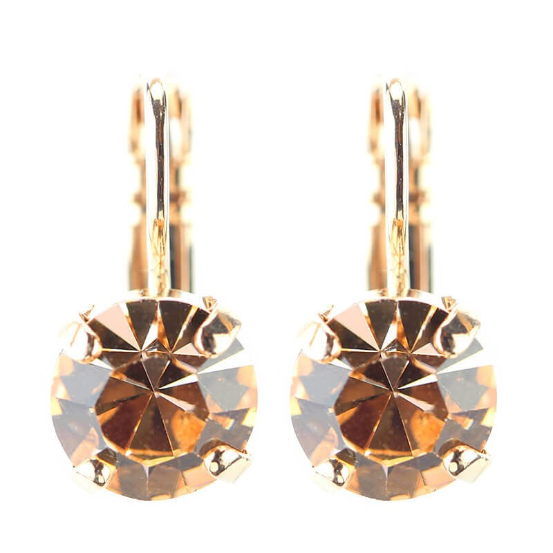 MARIANA LIGHT PEACH CRYSTAL EARRINGS