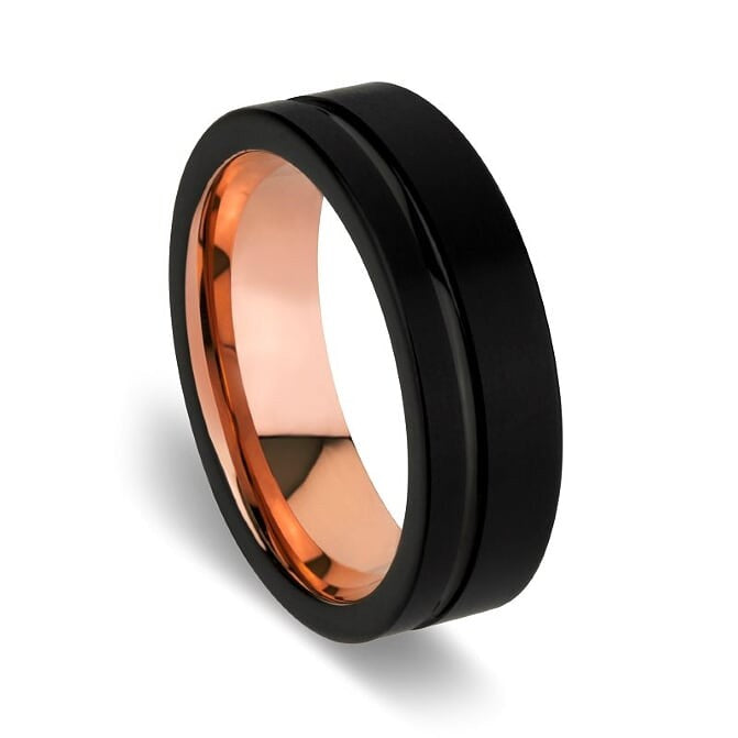 BLAZE BLACK TUNGSTEN STEEL RING