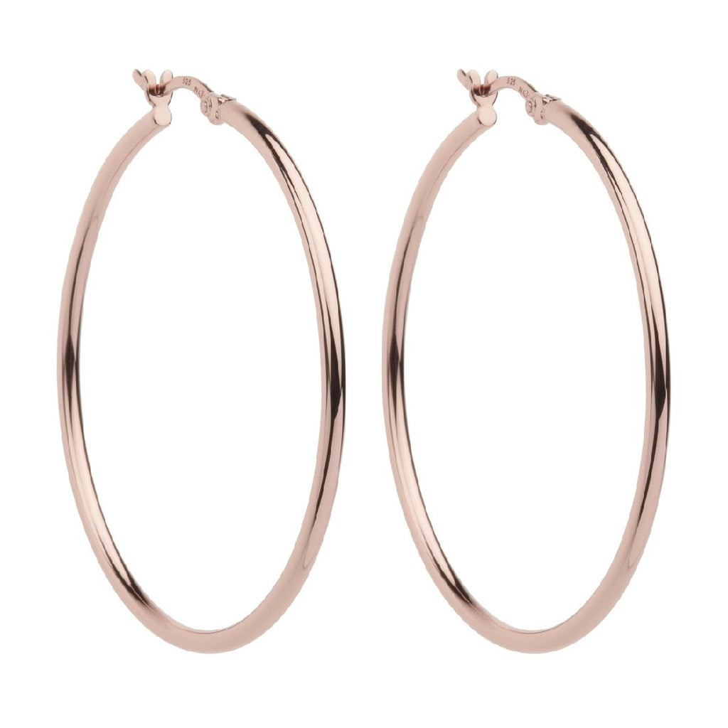 NAJO SIMPLE HOOP 2 X 45MM ROSE / G EARRINGS