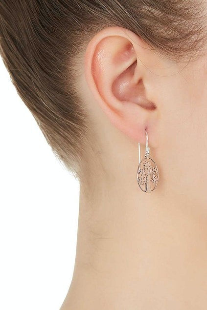 NAJO CUT OUT TREE EARRINGS ROSE