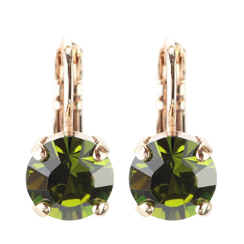 MARIANA OLIVINE CRYSTAL EARRINGS