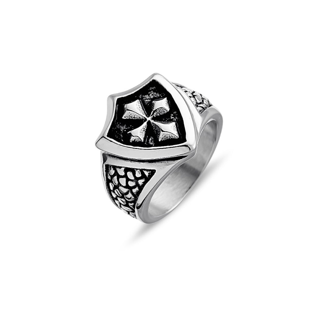 BLAZE STAINLESS STEEL SHIELD RING