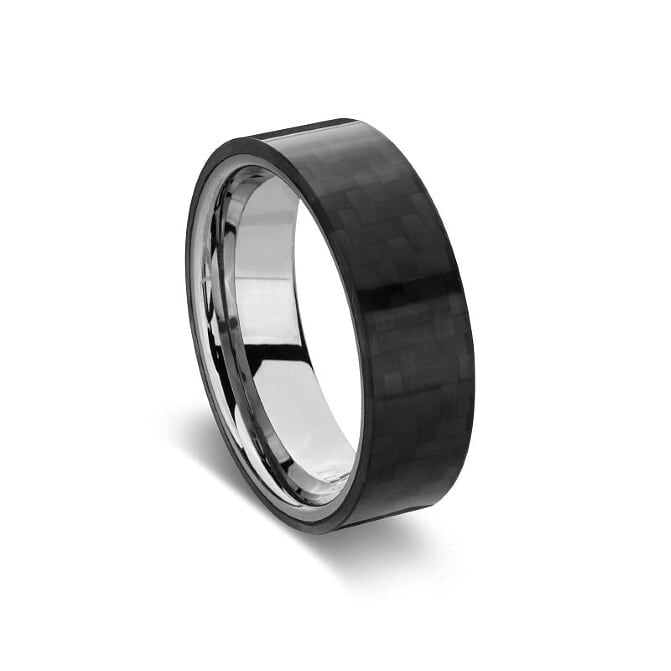 BLAZE TUNGSTAN STEEL INFINITY CARBON FIBER RING