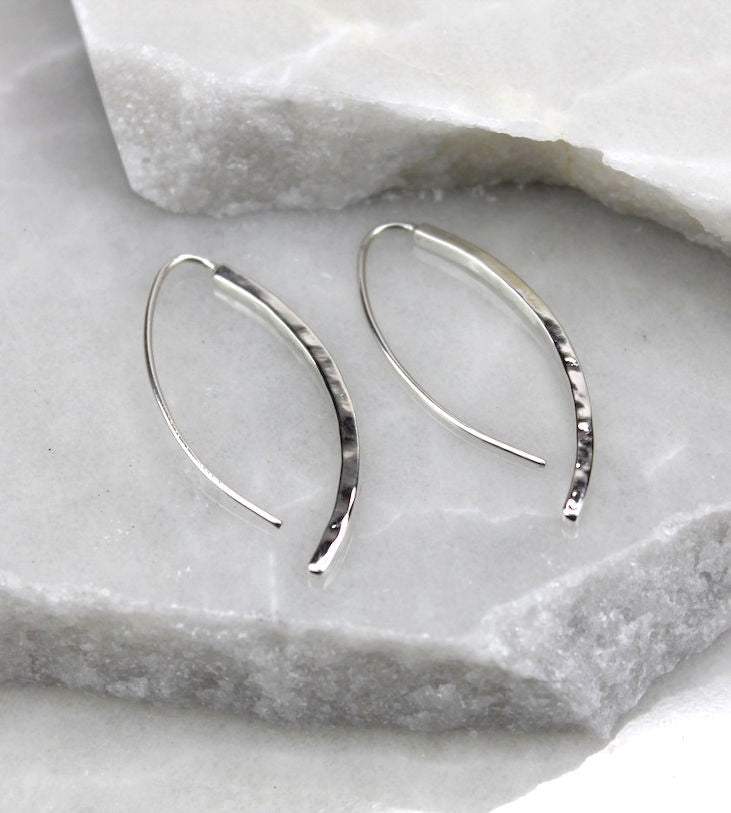 MEXICAN HAND MADE SILVER LONG EARRINGS
