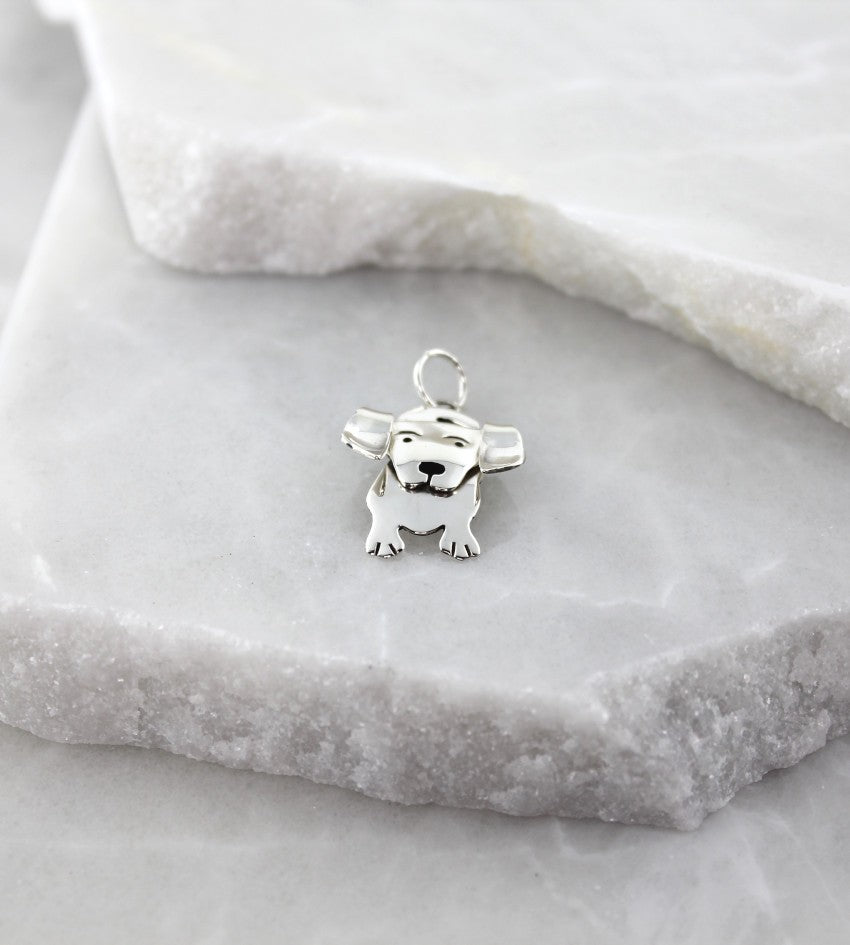 MEXICAN MADE SILVER MIN DOG PENDANT