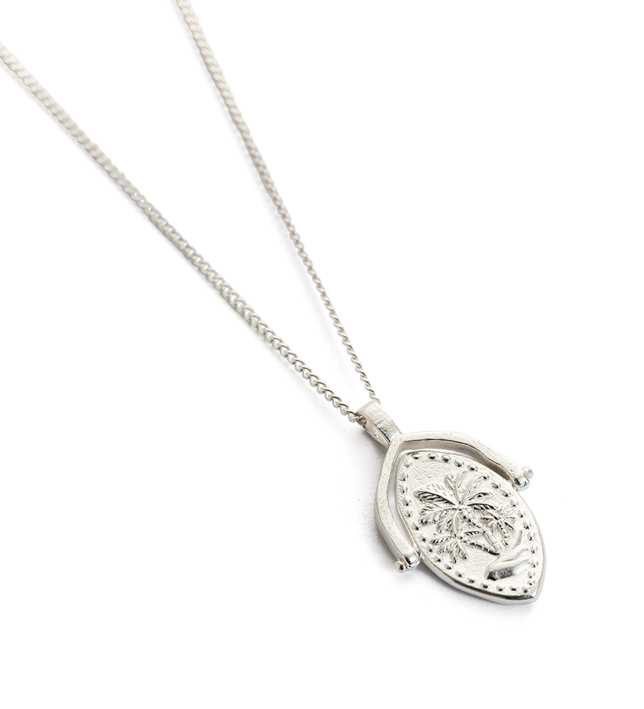 KIRSTINE ASH SILVER OASIS SPINNER NECKLACE