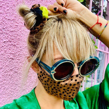 Load image into Gallery viewer, Scrunchie + Leopard Mask