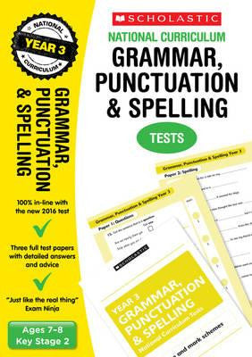 Grammar, Punctuation and Spelling Test - Year 3