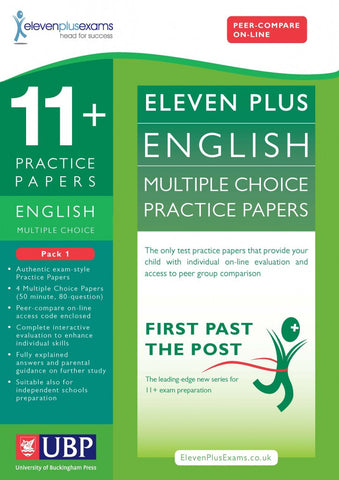 UBP 11+ English Reasoning Multiple Choice Practice Papers