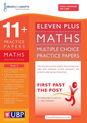 UBP 11+ Maths Multiple Choice Practice Papers