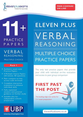 UBP 11+ Verbal Reasoning Multiple Choice Practice Papers