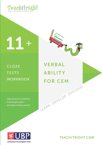 Verbal Ability for CEM 11+: Cloze Tests Workbook