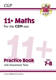 New 11+ CEM Maths Practice Book & Assessment Tests  (age 7 upwards)