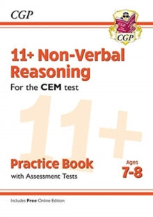 New 11+ CEM Non-Verbal Reasoning Practice Book & Assessment Tests - (Ages 7 Upwards) (with Online Edition)