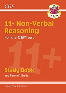 New 11+ CEM Non-Verbal Reasoning Study Book (with Parents' Guide & Online Edition) by CGP Books